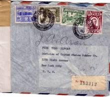 PEROU - GUERRE 39-45 - BANDE DE CENSURE DE LIMA POUR NEW YORK USA EN 1942. - Pérou