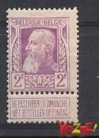 Belgie OCB Nr 80 Ongebr/MLH Very Fine Quality!! - 1905 Grove Baard