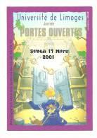 Publicité, Université De Limoges (87) - Journée Portes Ouvertes - 17 Mars 2001 - Autres