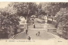 96..GRASSE....LA PROMENADE DU COURS...LL....1920... - Grasse