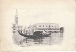 Venice Venezia Italy, Gondolas In Canal, C1890s Vintage Image Non-Postcard - Old Paper