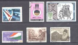 India 1973 Selected Issues Mostly Used - Incl. Indipex 73, Independence, Leprosy, Bacillus, Air India, Syed Khan - India