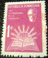 Dominican Republic 1970 Unesco International Year Of The Education 1c - Used - Dominican Republic