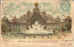 Carte Lumineuse - Exposition Universelle De 1900 Paris - Le Palais De L'Electricité - Prière De Tenir La Carte Contre... - Contre La Lumière