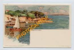 BEAULIEU-Lithographie De Manuel WIELANDT-1899-Illustrateur-Munich-VELTEN Nr 456- - Beaulieu-sur-Mer