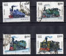 India 1993 Mountain Locomotives Set Of 4 Used - India