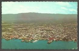 KINGSTON,  JAMAICA,  W. I.  -  AERIAL VIEW OF HARBOUR AND CITY - Jamaica