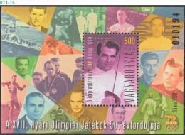 HUNGARY, 2010, OLYMPIC HISTORY - ROME OLYMPICS, Summer Olympic Games, 1960, MNH (**), Sc/Mi 4180 / Bl-337 - Blokken & Velletjes