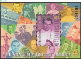HUNGARY, 2010, OLYMPIC HISTORY - ROME OLYMPICS, Summer Olympic Games, 1960, MNH (**), Sc/Mi 4180 / Bl-337 - Zomer 1960: Rome