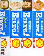 Radio Europe1.  4 Autocollants Shell Europe1 (Années 70-80). - Autocollants