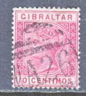 Gibraltar 30  (o)  Wmk CA - Gibraltar