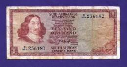 SOUTH AFRICA 1975,   Banknote , USED VG,  1 Rand Wm Van Riebeeck, 116b - South Africa