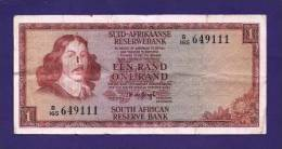SOUTH AFRICA 1973,   Banknote , USED FINE,  1 Rand Wm Springbok, 116a - South Africa