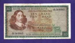 SOUTH AFRICA 1967,   Banknote , USED VF,  10 Rand Wm Springbok, English, 113b - Zuid-Afrika