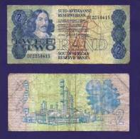 SOUTH AFRICA 1973,   Banknote , USED FINE,  2 Rand, Wm Van Riebeeck,  118b - South Africa