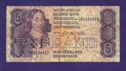 SOUTH AFRICA  ,   Banknote , USED FINE,  5 Rand, Wm Van Riebeeck,  Km119c, Signed Stalls - South Africa