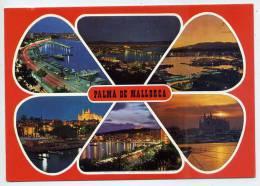 Espagne --PALMA DE MALLORCA--Vues Diverses De Nuit ,cpm N°148  REPRECO CB - Palma De Mallorca