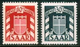 Saarland - Dienstmarken  1949  Wappen Des Saarlandes  (2 ** (MNH))  Mi: 33-34 (1,20 EUR) - Sarre