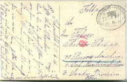 BAHNPOST HOHENWESTEDT - RENDSBURG ZUg 10  1916 Feldpost - Deutschland