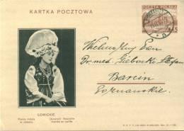 Polen Ganzsache 1938 Mit Tracht LOWICKIE - Briefe U. Dokumente