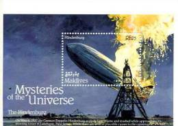 THE HINDENBURG ZEPPELIN MALDIVES MYSTERIES OF THE UNIVERSE UFO OVNI MYSTERY ALIEN GHOSTS FANTASMI - Maldive (1965-...)