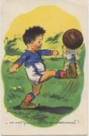 4598  -  CPA  De  GERMAINE BOURET -  LE  FOOTBALLEUR   -  M.D Paris - Circulée En 1958  -THEME RARE - Bouret, Germaine