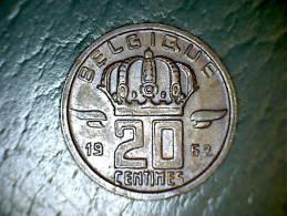 Belgique 1960 20 Centimes - 01. 20 Centimes