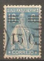 PORTUGAL-1928-1929,  CERES, C/ Sobretaxa. P. Liso, F. M. Ou Esp. D. 12x11 1/2,  15 S/ 16 C.  Azul Claro  (0)  Af  Nº 459 - Usado