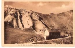 Montagne-Col Du Galibier (Tour De France Cycliste)-Le Chalet Restaurant (Pub. Verso-Mme Motte) Et Le Tunnel- Briançon - Briancon