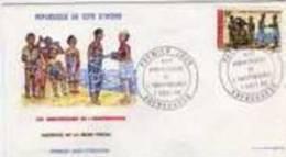 FDC Cote D´Ivoire  Anniv. Indépendance 1968. - Costa D'Avorio (1960-...)