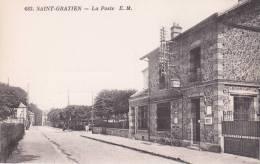CPA 95 St-GRATIEN , La Poste. (animée) - Saint Gratien