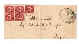 ITALIA REGNO 1876 LETTERA SERVIZIO DI STATO AFFR. 5 V. 0,05 CENT (r. 8174) - Storia Postale