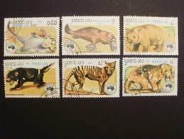Laos 780/5 Oo Used,  Internationale Briefmarkenausstellung AUSIPEX '84, Melbourne: Tiere - Laos