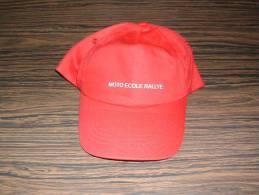 Casquette Rouge Red Cap MOTO ECOLE RALLYE - Caps