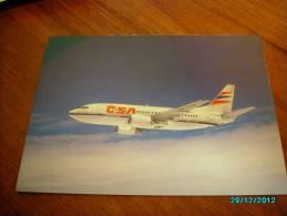 AIRPLANE  BOEING  B737-500  CSA  CZECH AIRLANES  POSTCARD - 1946-....: Moderne