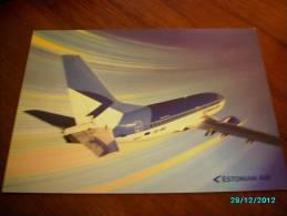 AIRPLANE  BOEING 737-500  ESTONIAN AIR  POSTCARD - 1946-....: Moderne