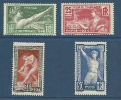 """YT 183 à 186  """" Jeux Olympiques De Paris """" 1924  Neuf **"""