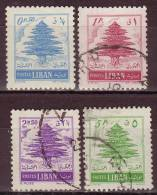 LIBAN - 1953 - YT N°  88 / 91  - Oblitérés - - Liban