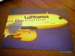 AIRPLANE  AIRBUS A320 200  LUFTHANSA     POSTCARD - 1946-....: Moderne