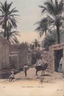 CPA  ALGERIE - Vieux BRISKRA - Une Rue
