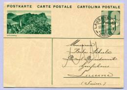 Postkarte Schweiz Ansicht VITZNAU Von LAUSANNE Nach LUZERN 1932 (801) - Stamped Stationery