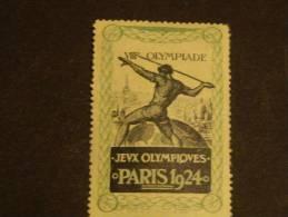 Vignette France 1924 Jeux Olympiques Neuf** !!!!!!!!!!!!!!!!!!! Paris - Commemorative Labels