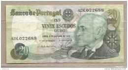 Portogallo - Banconota Circolata Da 20 Escudos P-176a.2 - 1978 - Portugal
