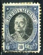 SAINT MARIN  122°  10c  Bleu  Centenaire De La Mort Du Capitaine-régent (10% De Lacote + 0,15 €) - Oblitérés