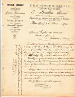 FACTURE CREUSE (23) @ AHUN Du 15 Mars 1894 @ Bouillot - Graines Fourragères Et Potagères - épicerie Mercerie - 1800 – 1899