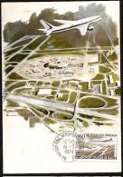 L'AEROPORT CHARLES DE GAULLE  - ROISSY-EN-FRANCE - AQUARELLE DE PAUL LENGELLE - Gebruikt