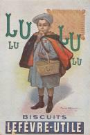 Chromo - Publicité - Biscuits Lu Lefevre-Utile - Ecolier Ecole Médaille - Lu