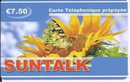 SUNTALK - Carte Téléphonique Prépayée - €7.50 - Frankrijk