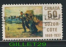 CANADA, STAMPS - SUZOR-CÔTÉ - RETURN FROM THE HARVEST FIELD - SCOTT No 492 - 0.50 CENTS - USED - - 1952-.... Règne D'Elizabeth II