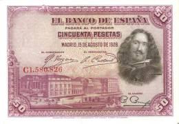 BILLETE DE ESPAÑA DE 50 PTAS DEL AÑO 1928 SERIE C CALIDAD EBC+ (BANKNOTE) - [ 1] …-1931 : Primeros Billetes (Banco De España)